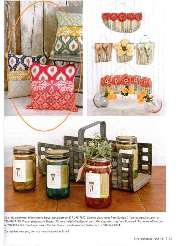 From the pages of the knot magazine surya 39 s happy cottage Spring cottage magazine