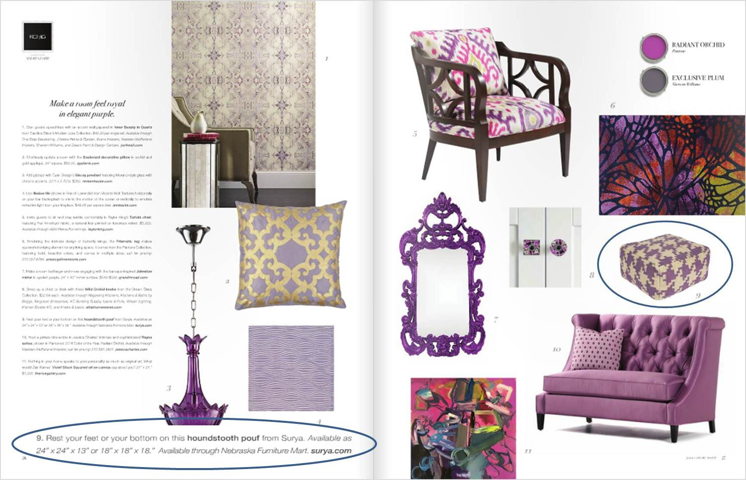 MAKE A ROOM FEEL ROYAL IN ELEGANT PURPLE 5.07.14
