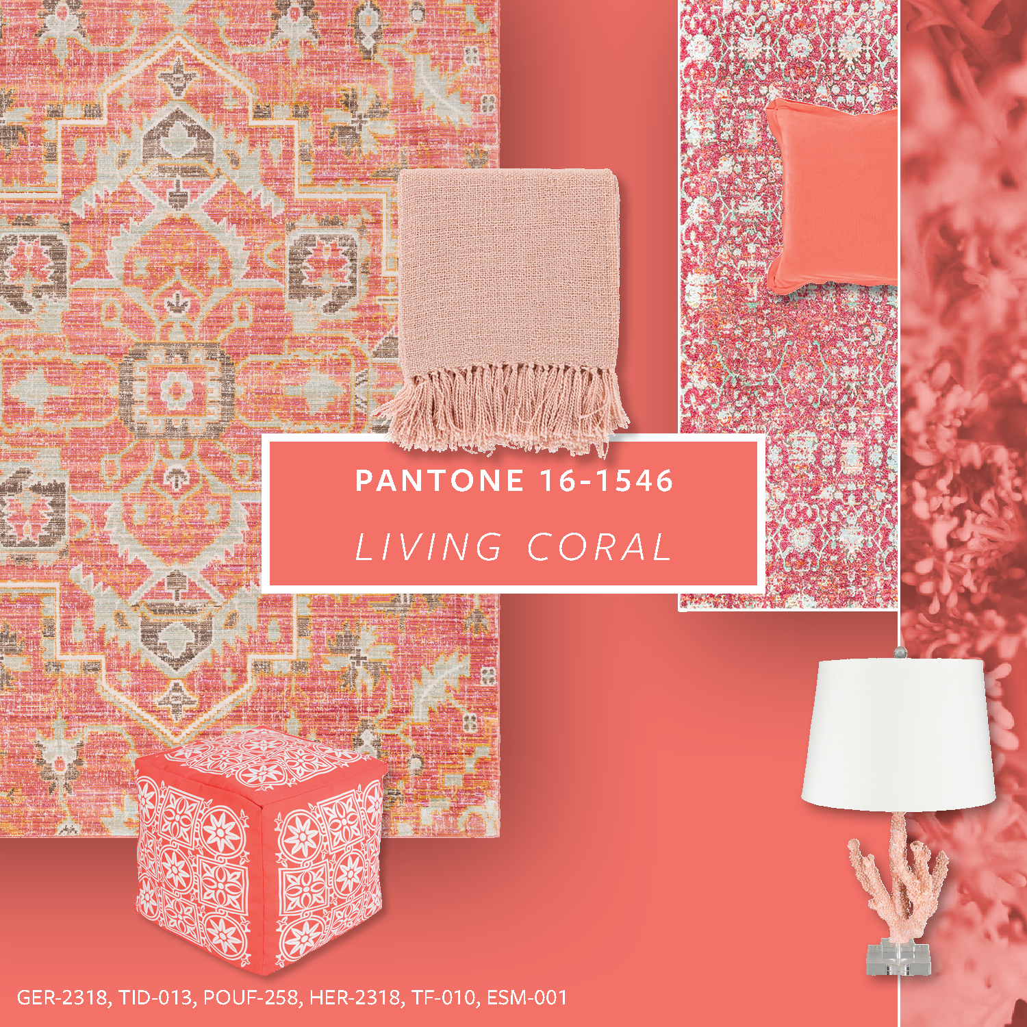 "Pantone positions Living Coral as a ""vibrant yet mellow"" color that provides warmth, comfort and buoyancy in today's ever-changing environment."