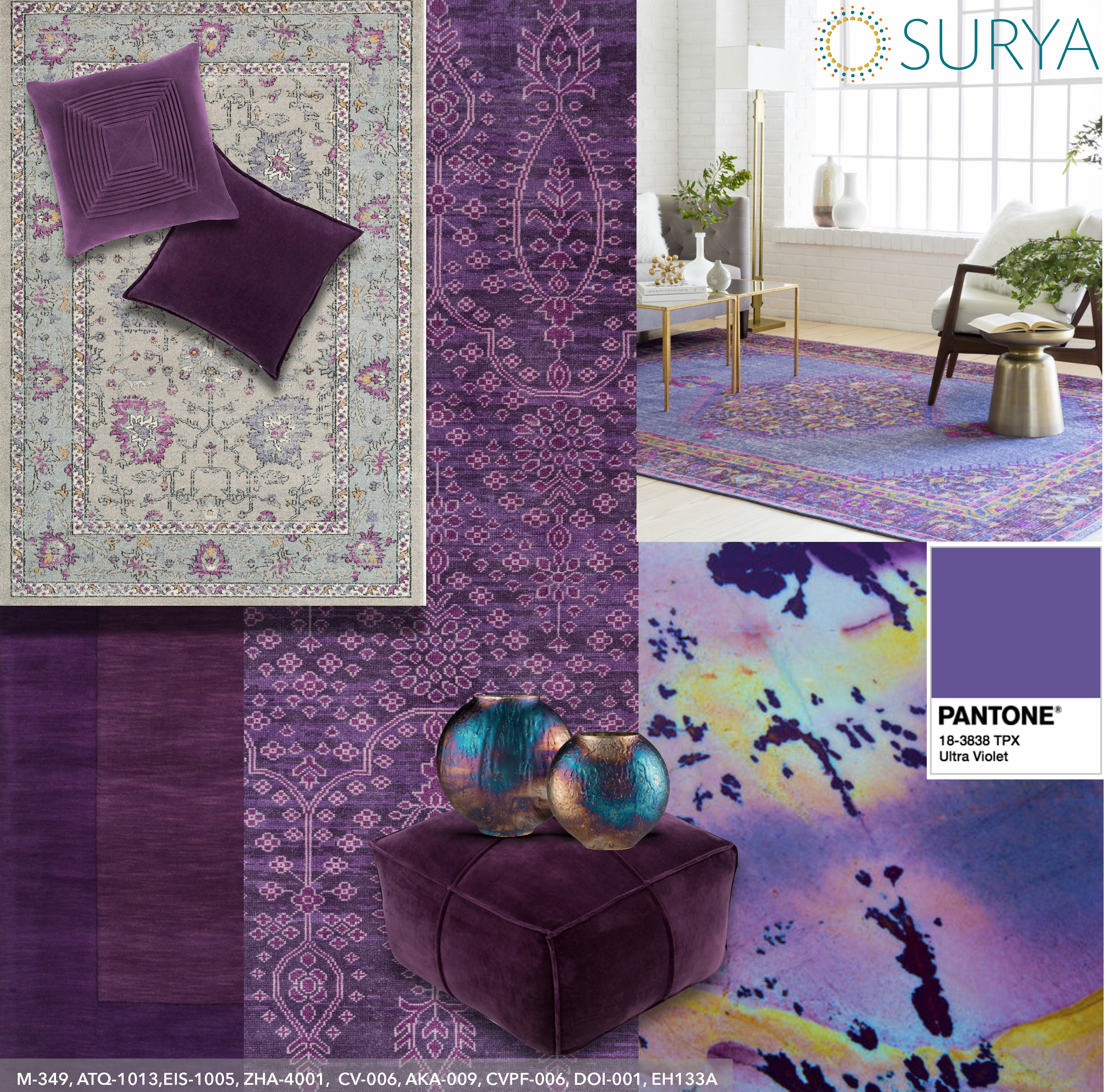 Just In Time For The Winter Markets Surya Will Be Showcasing A Variety Of Rugs And Accessories Ultra Violet Pantone 2018 Color Year