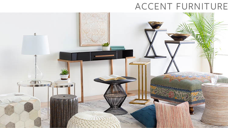 Accent Furniture   Surya | Rugs, Lighting, Pillows, Wall ...