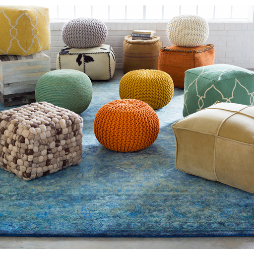 pouf-13 - surya | rugs, pillows, wall decor, lighting, accent