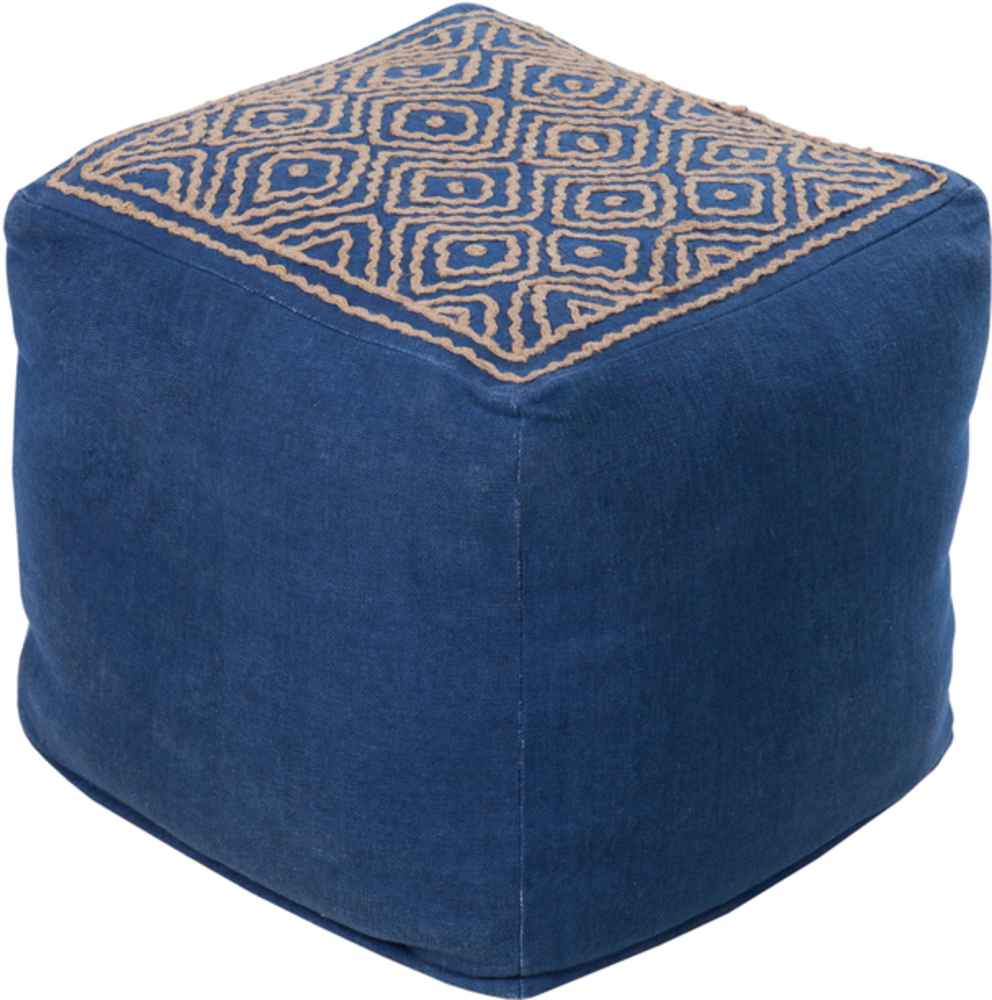 Pouf 213 surya rugs lighting pillows wall decor accent furniture decorative accents - Design pouf ...