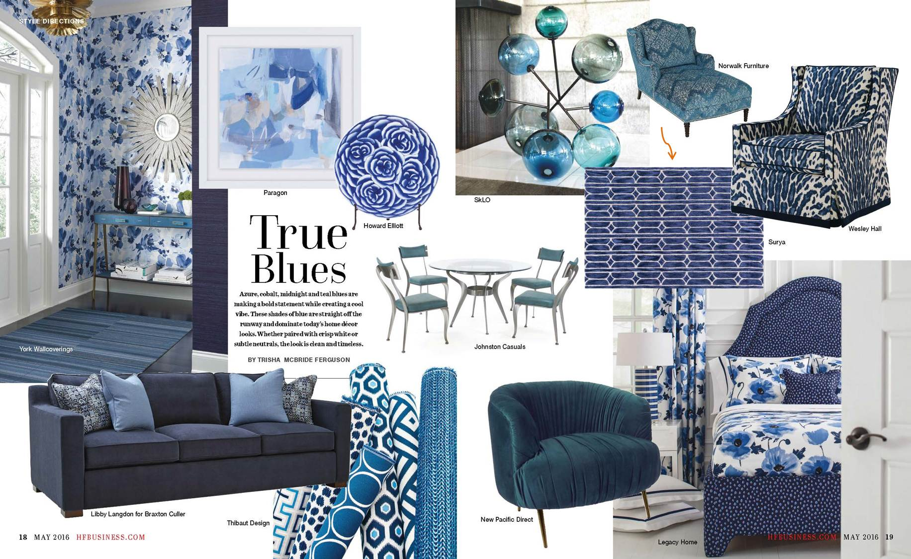 Surya S Richly Textured Alexandra Rug With A Modern Geometric Motif In Deep Indigo Hues Is Spotlighted This Color Story On Vibrant Blue Accessories That