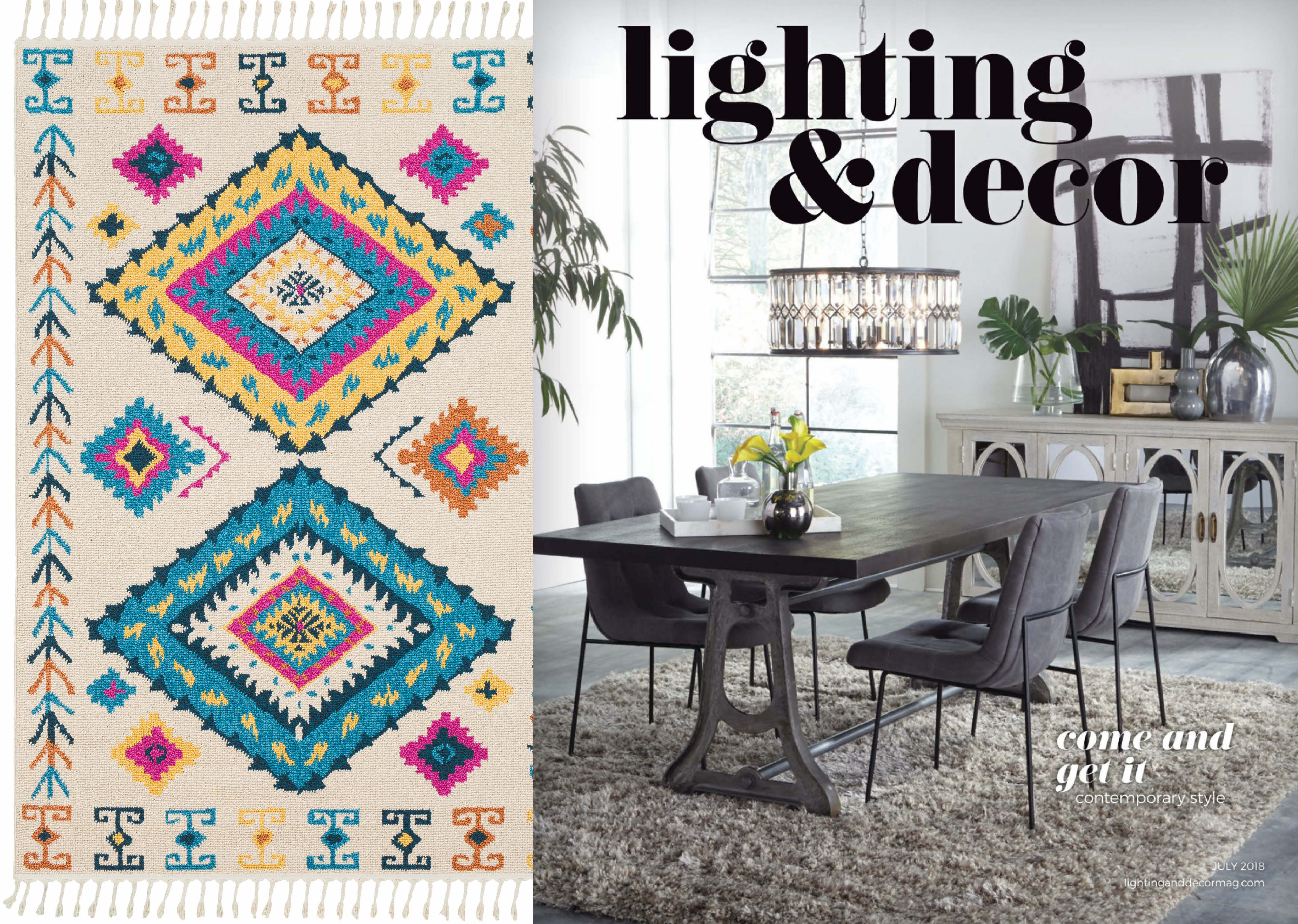 Lighting Decor Spotlights How Tels And Fringe Have Transitioned From The Fashion Runways To Home Showrooms With Surya S Love Rug As A Prime