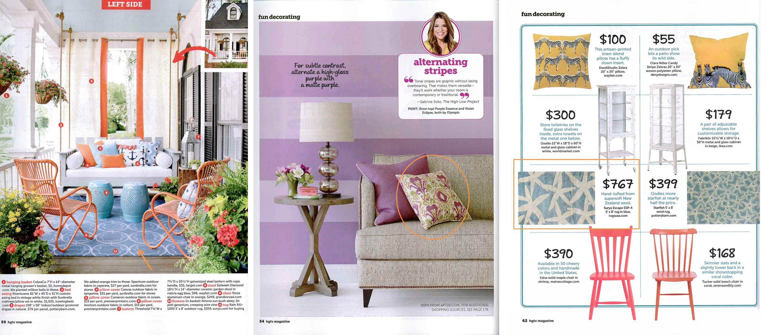 Surya S Indoor Outdoor Rain Rug Is Featured In A Photo Editorial On Summer Sunrooms An Ikat Patterned Pillow From The Storm