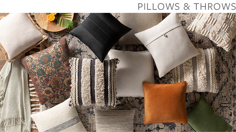 Pillows Throws Surya Rugs Lighting Wall Decor Accent Furniture Decorative Accents Bedding