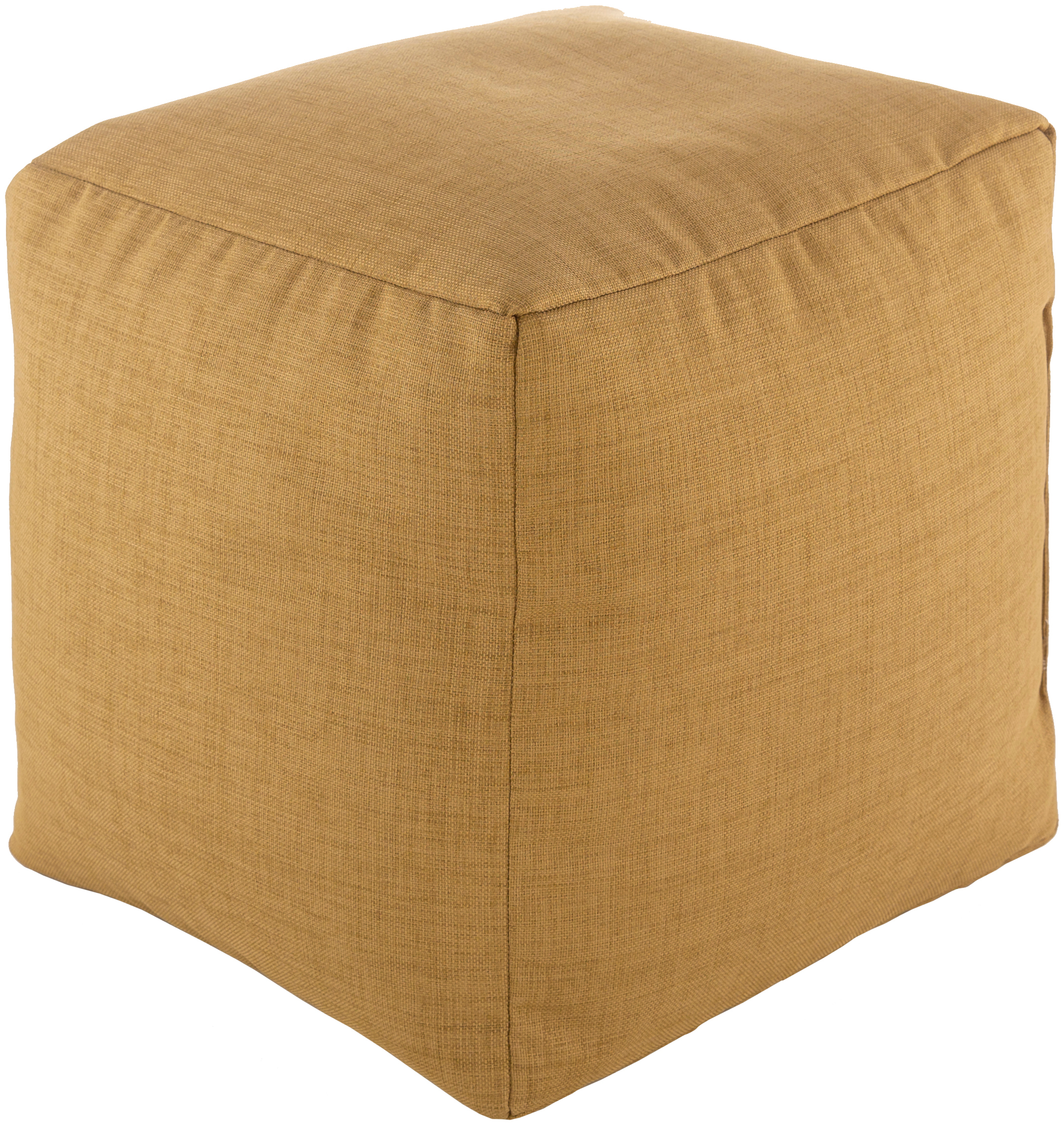 surya storm traditional cube pouf with tan finish srpf004-181818