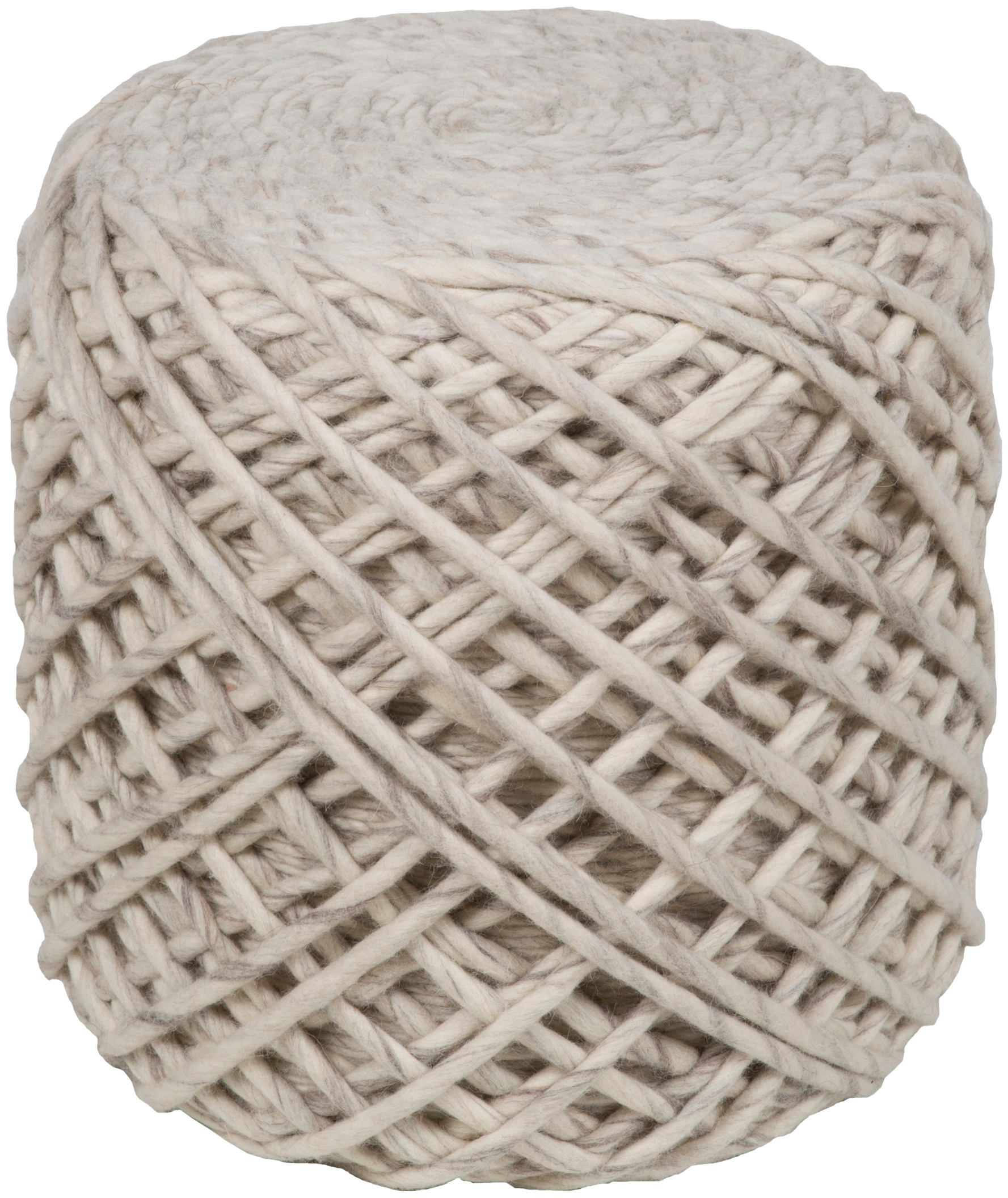 surya yukon cube pouf with cream and charcoal and camel finish ykn001-161618